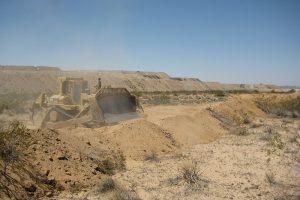 Rio Tinto Minerals Berm Construction